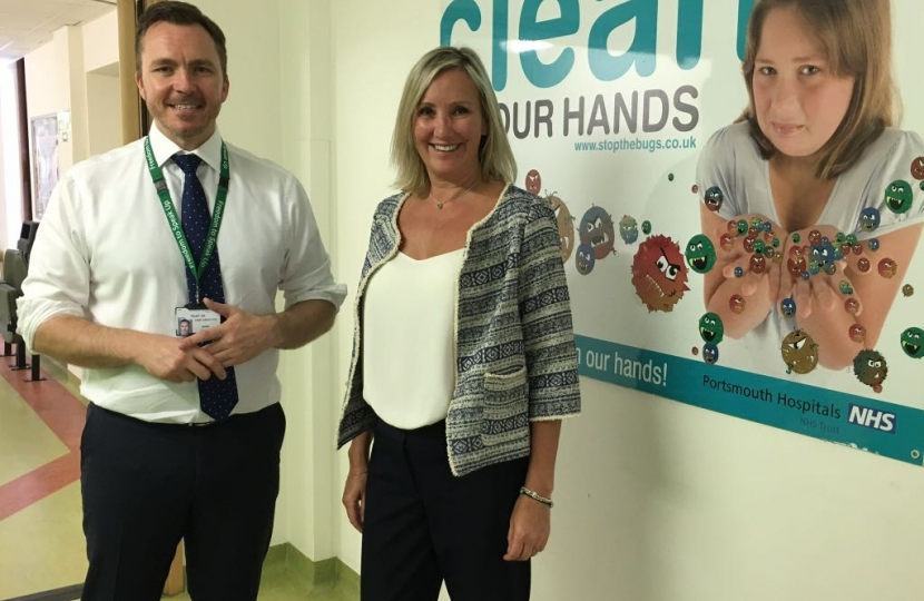 Caroline with CEO of Portsmouth Hospitals Mark Cubbon